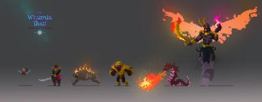 Fiery Pit enemies lineup